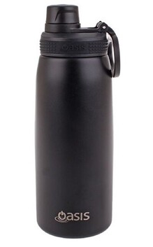 Oasis S/S Insulated Sports Bottle - Black 780ml