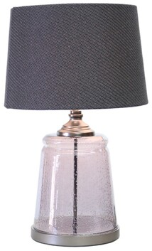 Le Forge Prescott Table Lamp - Grey with Black Shade