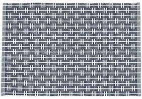 Eco Eden Ribbed Place Mat - Navy