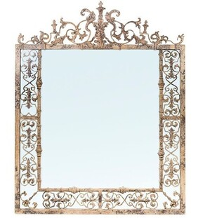 French Country Romantique Arch Metal MIrror