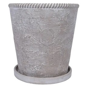French Country Grey Rope Planter Large