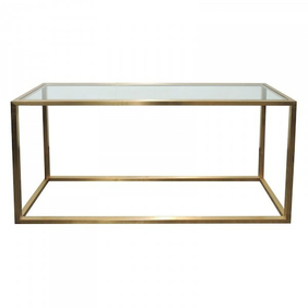 Le Forge Bogart Glass & Bronze Stainless Console