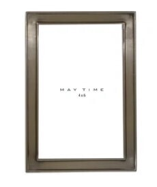 Maytime Lucy Frame - Pewter Look 4x6