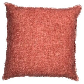 French Country Rust Fray Cushion - 50x50cm