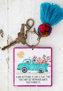 Natural Life Chirp A Bad Attitude Keychain