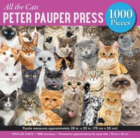 Peter Pauper Press All the Cats Jigsaw Puzzle - 1000pc