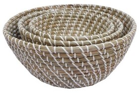 Rembrandt Seagrass with Plastic Weaving Basket