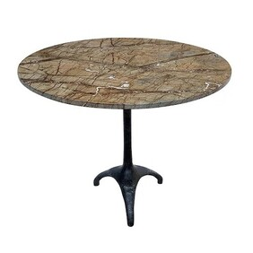 French Country Table Seine Marble - 90cm Dia