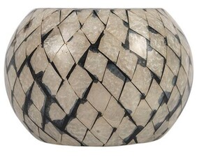 French Country Mosaic Round Votive - Large