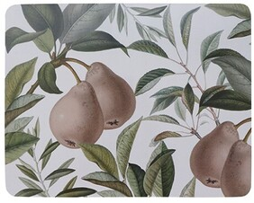 Madras Pears Rectangle Placemat Set - S/4