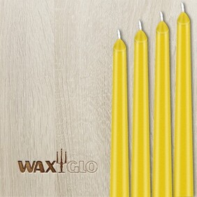 Waxglo Taper Wrapped Candle - Yellow 250mm