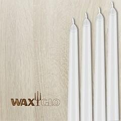 Waxglo Taper Wrapped Candle - Mtlc Pearl White 250mm