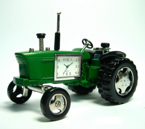 Collectable Tractor Clock - Green