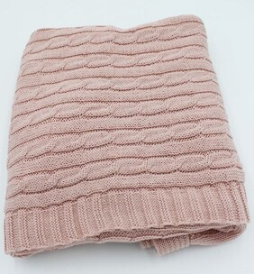 Beau  Baby Blanket Cable Pink