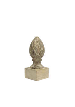 French Country Artichoke Wooden Decor Lge