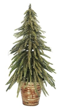 French Country Potted Table Tree Med 13x13x33cmH - Gold