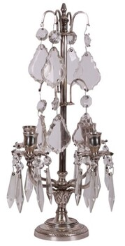 French Country Frans Crystal Candelabra 23cmDiax44cmH
