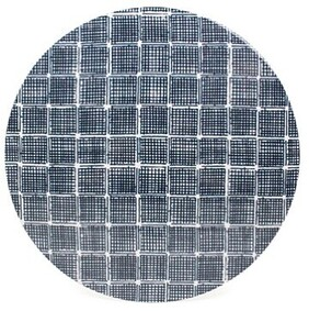 Madras Kinfolk Round Placemat - Charcoal Set of 4
