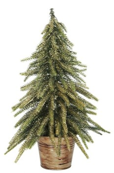 French Country Potted Table Tree Small 12x12x26cmH - Gold