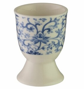 Kitchencraft China Blue Scroll Egg Cup