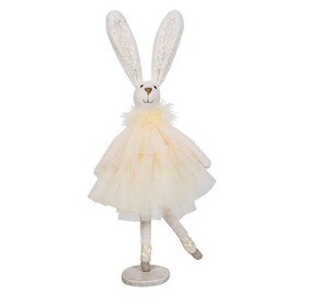 French Country Ballerina Dancing Bunny - Yellow Dress