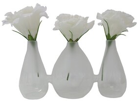 Le Forge Sienna Glass Vase Style 8 - Frosted White