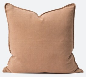 Citta Washed Linen Cushion Filled Oat - 60x60cm