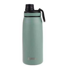 Oasis S/S Insulated Sports Bottle Sage Green - 780ml