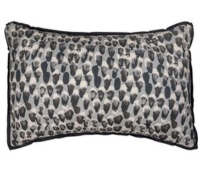 French Country Pebble Cushion - Charcoal