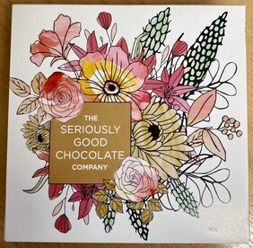 Seriously Good Chocolate Mothers Day Apricot Floral Chocolates - 9 pieces