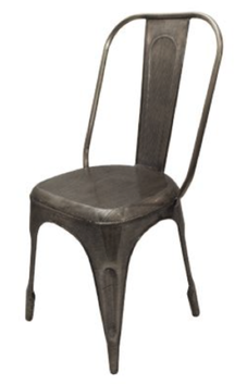 French Country Antique Silver Industrial Chair
