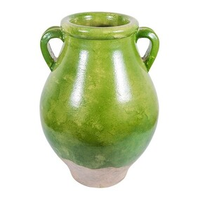 French Country Vase Provencal - Pear Green