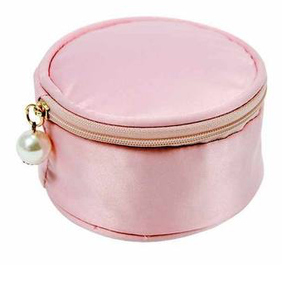 Annabel Trends Satin Jewellery Pouch - Pink