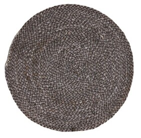 Maytime Pure Cotton Round Placemat - Grey Wash