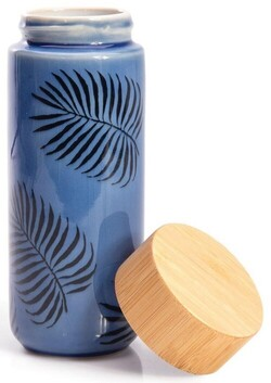 IS Double Wall Ceramic Eco Bottle - Palm
