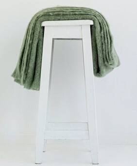 Windermere Mohair Throw Olive - 130x185cm