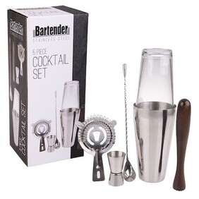 Bartender Cocktail Set 5 Peice Stainless
