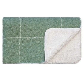 Linens & More Grid Sherpa Throw Loden Forest - 130x170cm