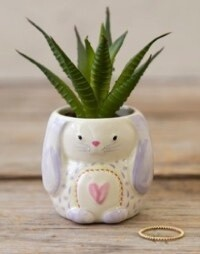 Natural Life Bunny Critter Faux Succulent