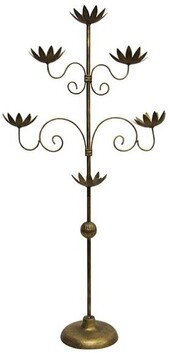 French Country Flower Cup Candelabra