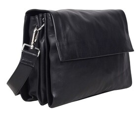 Urban Forest Monroe Soft Leather with Flap Hand Bag - Florence Onyx