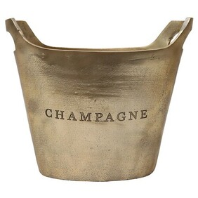 Le Forge Aluminium Oval Champagne Bucket - Raw Gold