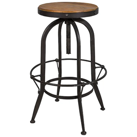 French Country Adjustable Workshop Stool