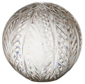 """French Country Wing Cut Glass Ball 5"""""""