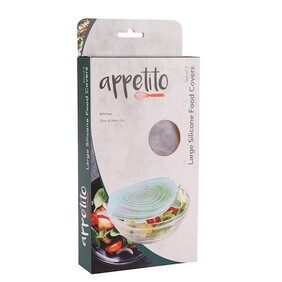 Appetito Silicone Reuseable Food Covers - Set of 2
