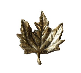 French Country Antique Wide Leaf 15cmLx19cmWx3cmH - Gold