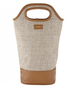 Avery Insulated Double Wine Bag - Taupe