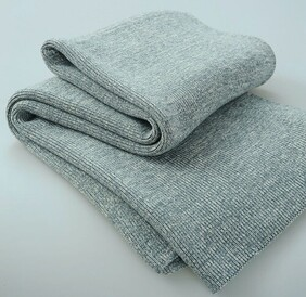 MM Linen Chambray Knitted Throw Grey - 130x170cm