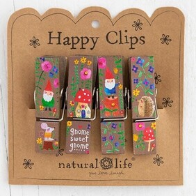 Natural Life Gnome Sweet Gnome Happy Clips - Set 4