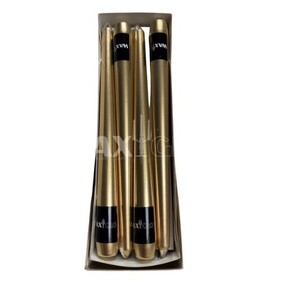 Waxglo Taper Wrapped Candle - Metallic Gold 250mm